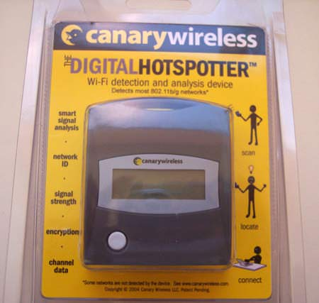 CanaryWireless Hotspotter