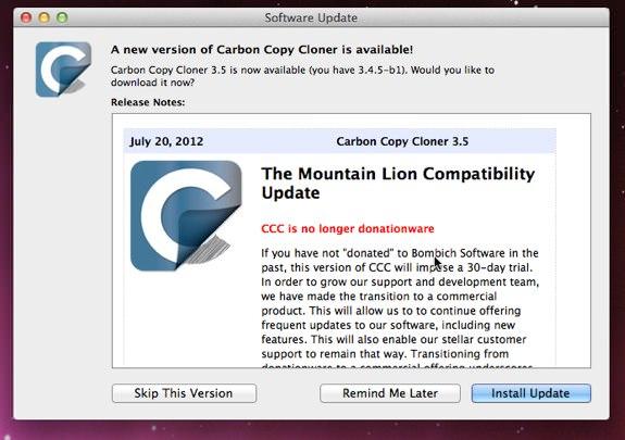 Carbon Copy CLoner 3.5