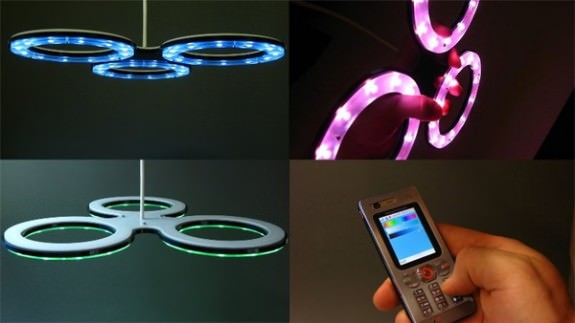 Modula therapy lamp changes colors via Bluetooth