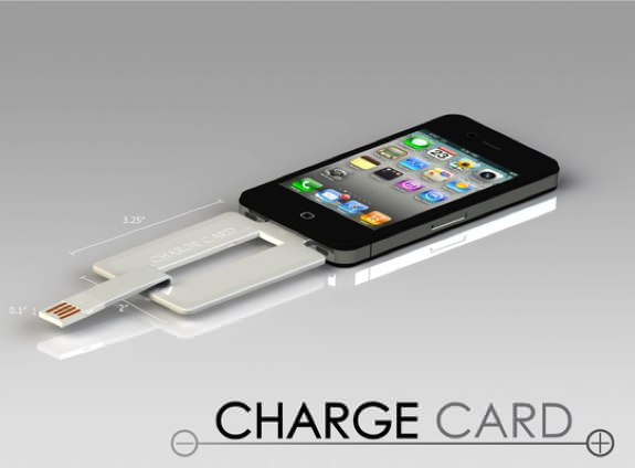 ChargeCard iPhone charger