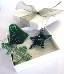 Circuit Board Tree Ornaments