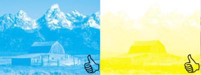 cyan/yellow