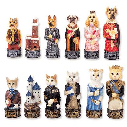 Dog and Cat Chess set