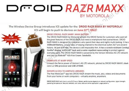Droid RAZR MAXX Android 4.0 update