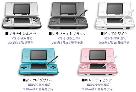 New Nintendo DS Colors