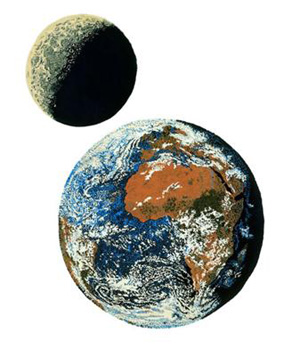 Earth and Moon Rugs