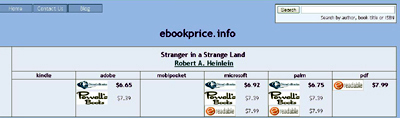 ebook price screen
