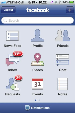 Facebook iPhone 3.2