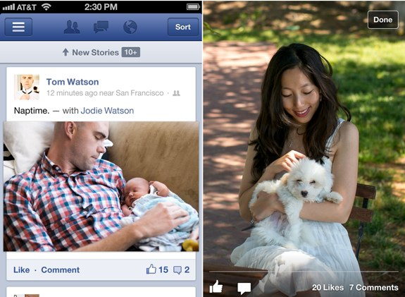 Facebook 5.0 app
