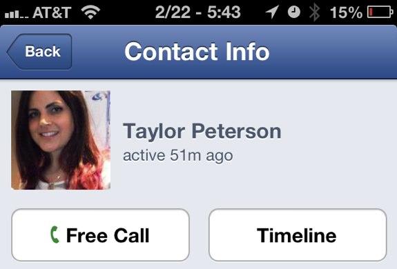 Facebook free voice calls