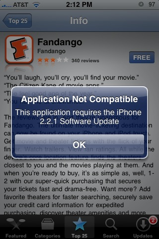 Fandango iPhone 3.0