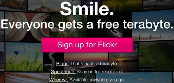 Flickr redesign 1TB