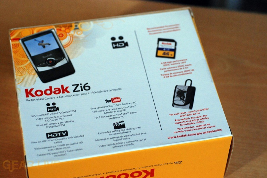 Kodak Zi6 box back