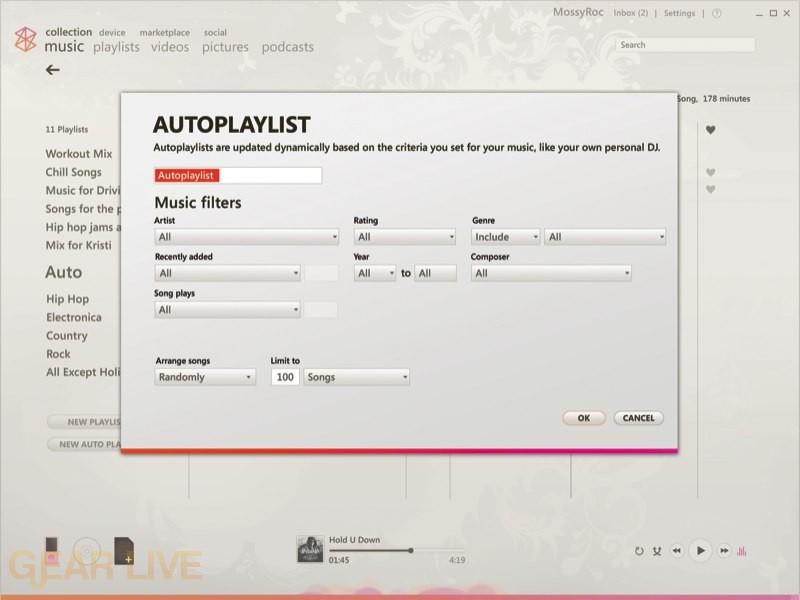 Zune 2.5 Autoplaylist