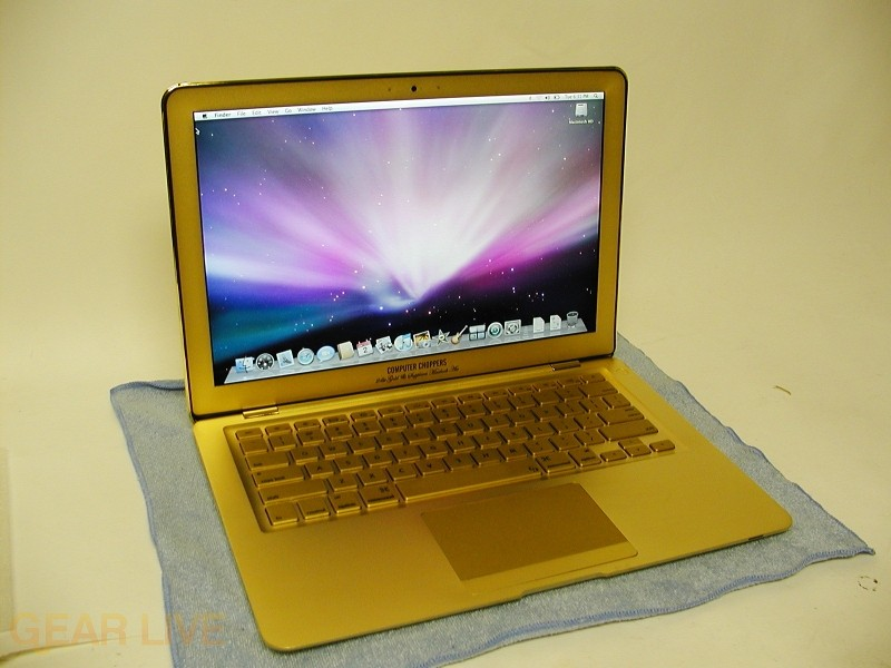 24k Gold Macbook Air full shot