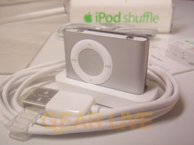 Docked iPod shuffle