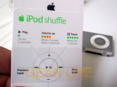 iPod shuffle Instructions Insert
