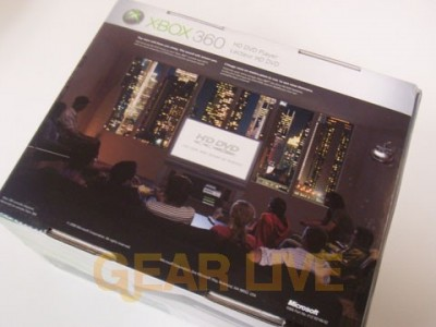 Back of Xbox 360 HD DVD Player Box