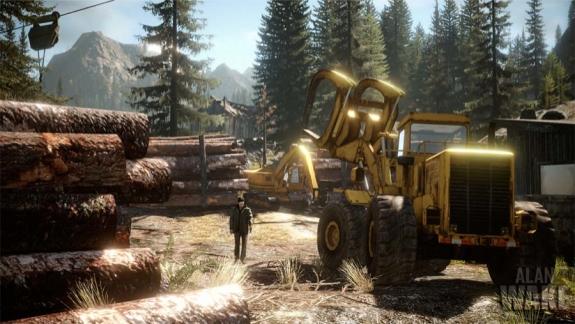 Alan Wake daytime lumberyard
