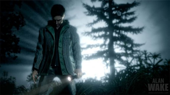 Alan Wake exploring