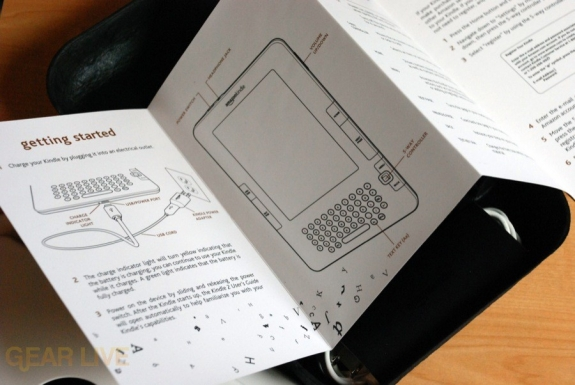 Kindle 2 instructions