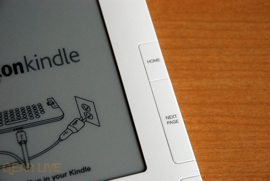 Kindle 2 Home and Next buttons