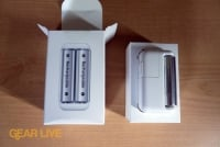 Apple Battery Charger next to box