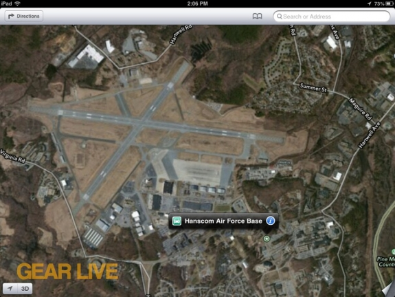 Apple Maps Hanscom Air Force Base