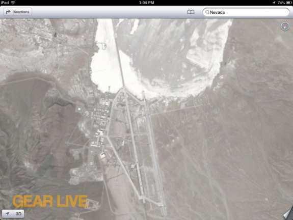 Apple Maps Area 51