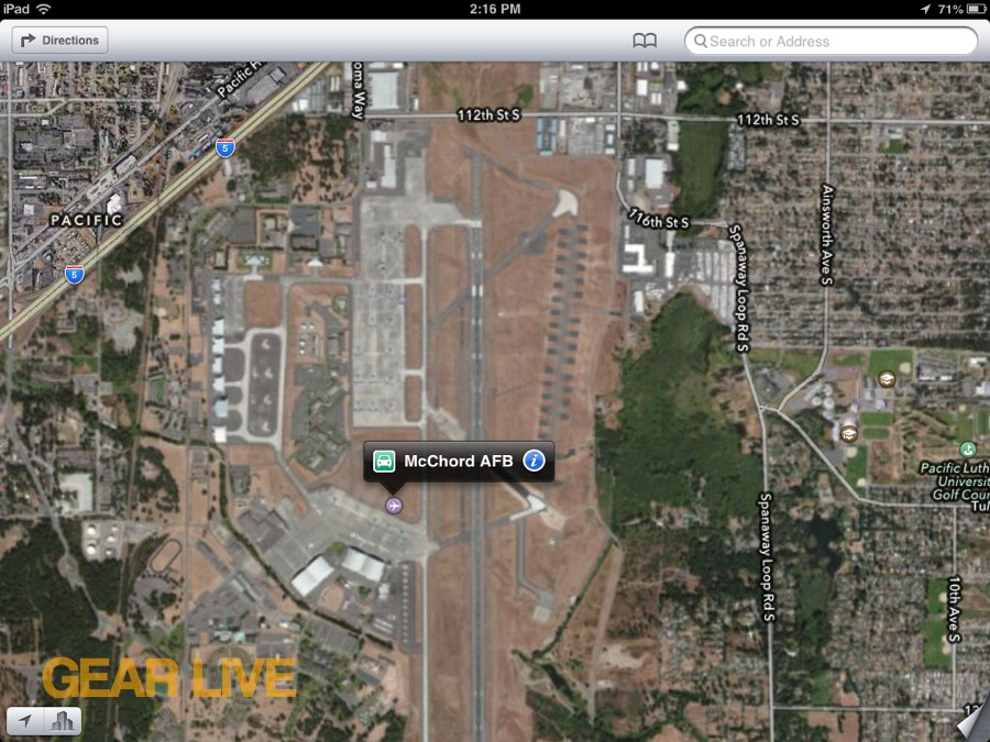 Apple Maps McChord Air Force Base