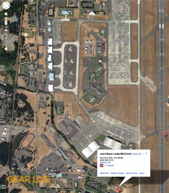 Google Maps McChord Air Force Base