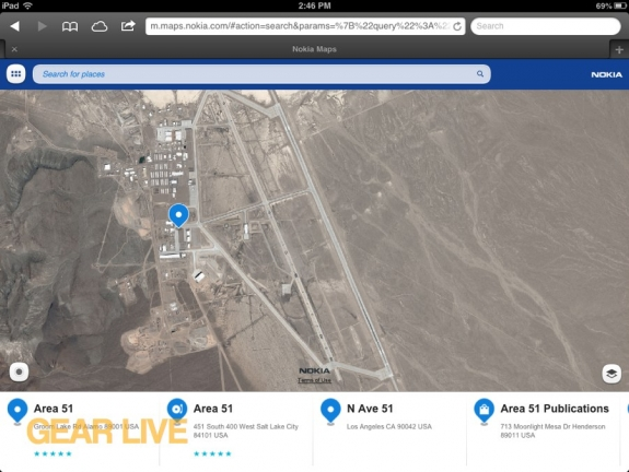 Nokia Maps Area 51