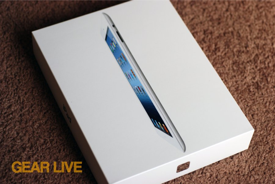 New iPad box