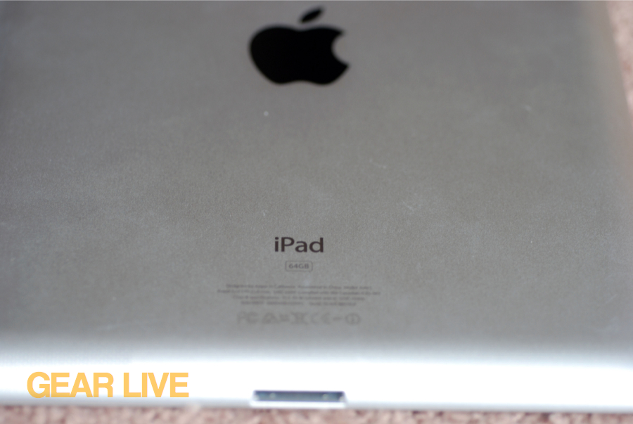 Rear iPad close-up