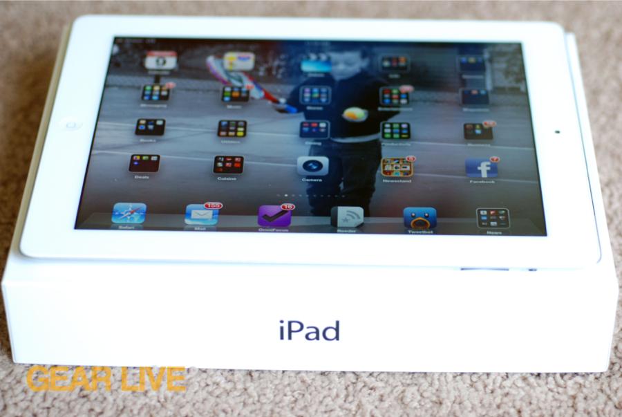 New iPad on top of box