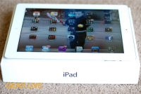 New iPad on top of box