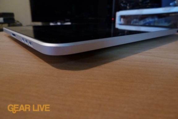 iPad: Side view
