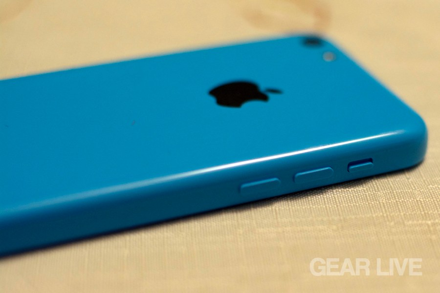 iPhone 5c volume controls