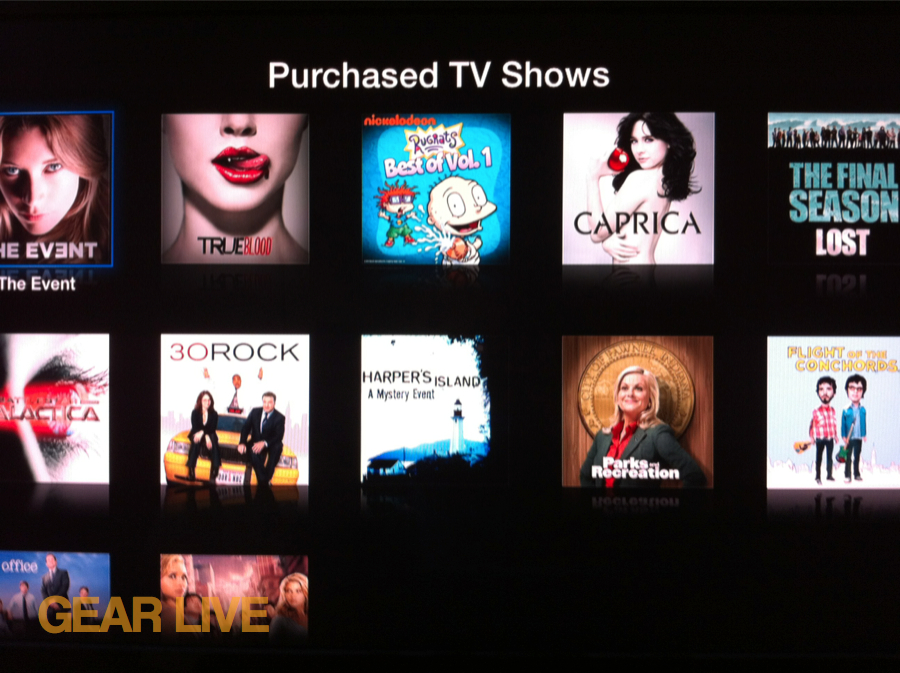 Apple TV Purchased TV Shows Section
