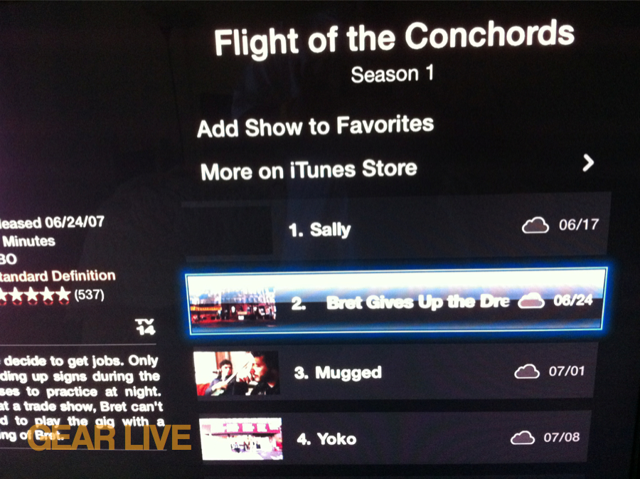 iCloud TV Streaming on Apple TV
