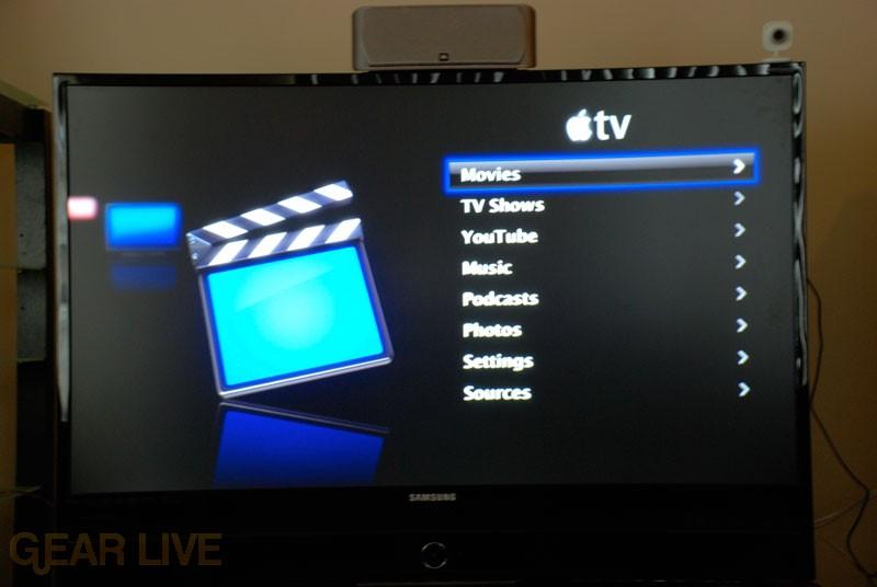 Apple TV YouTube Menu Item