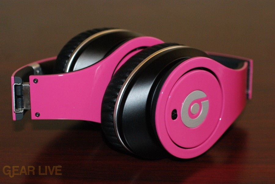 Beats by Dr. Dre Pink Charles Hamilton customs folded