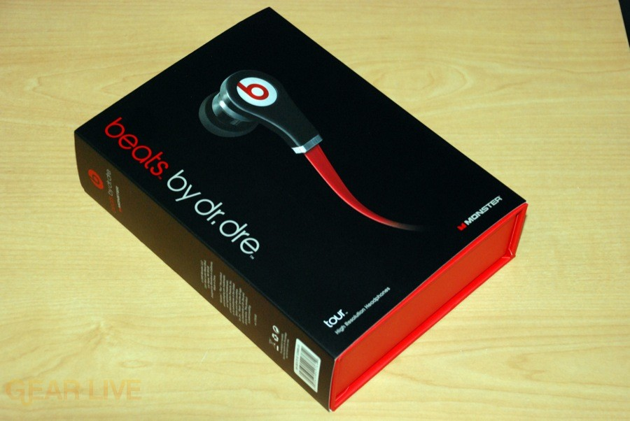 Beats by Dr. Dre Tour earbuds box