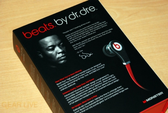 Beats by Dr. Dre Tour box back