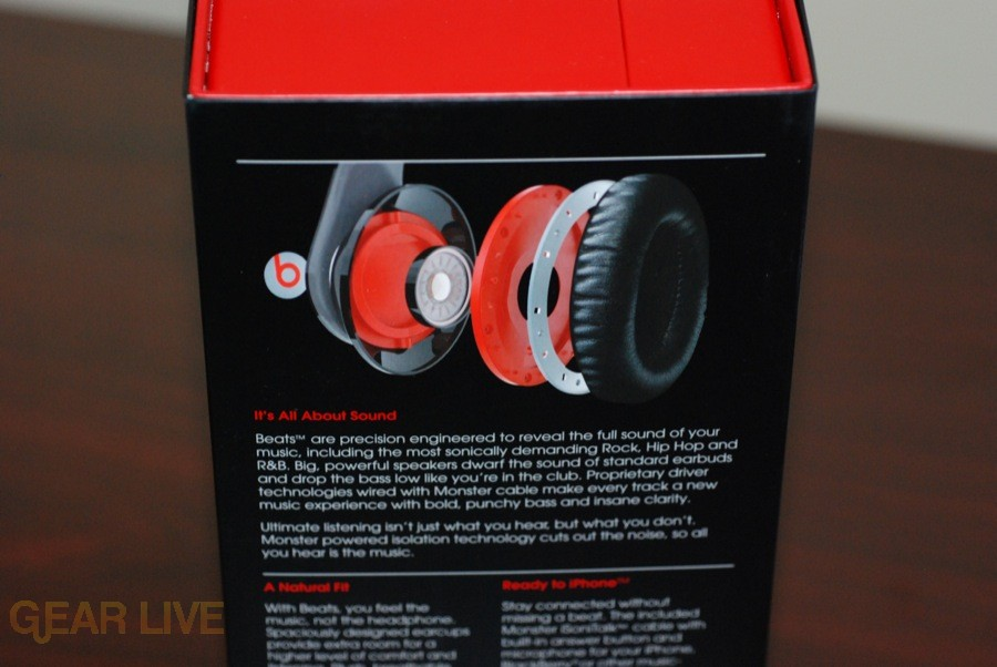 Beats by Dr. Dre box back