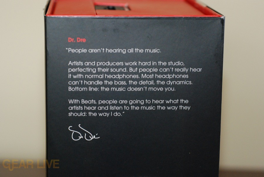 Beats by Dr. Dre box side