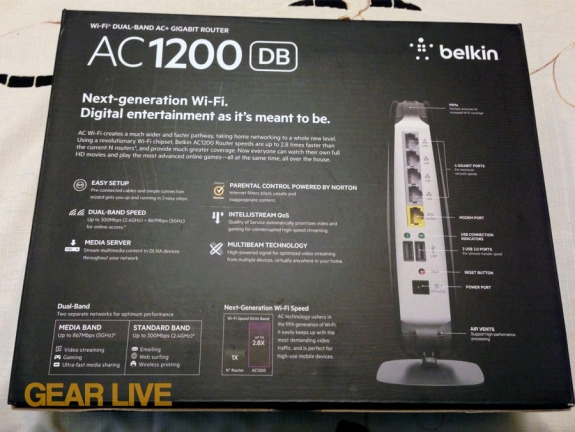 Belkin AC1200 Dual Band Wireless AC Gigabit Router
