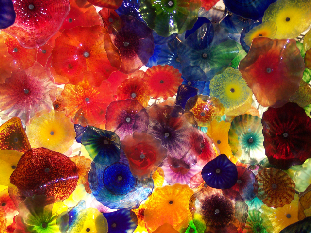 Bellagio Glass Sculpture Ceiling