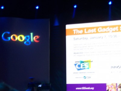 Waiting for Larry Page Keynote to Begin