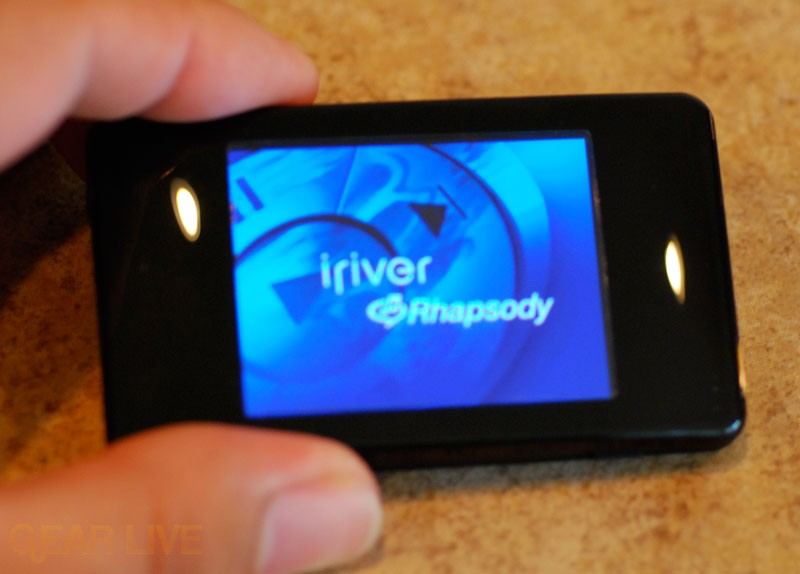 iriver clix Rhapsody Powered On